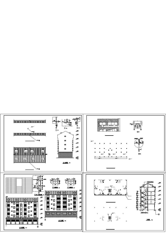 欧式私人住宅楼装修设计建施图,共四张图片1