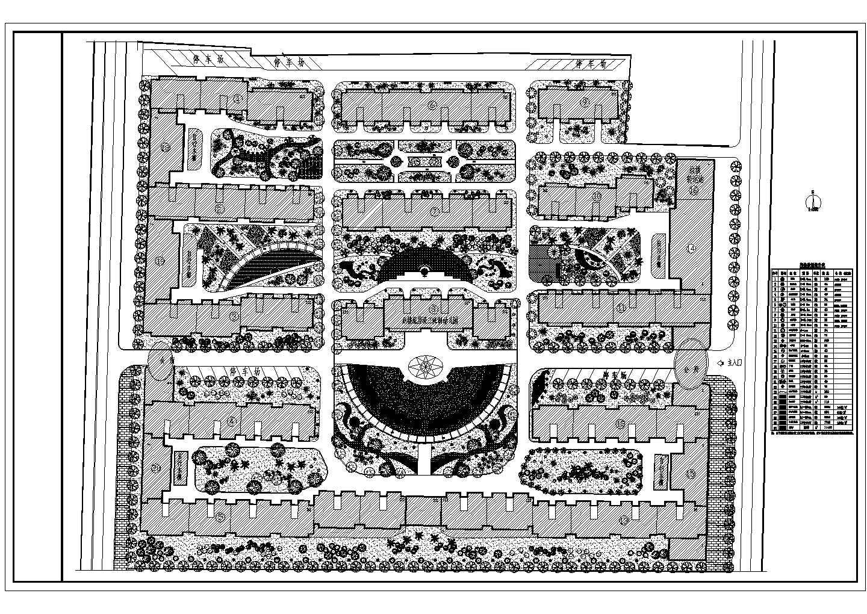小区规划绿化设计施工图图片1