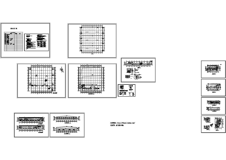 2层3588.8平米钢结构外围砖混结构救灾物资仓库建施CAD设计图图片1