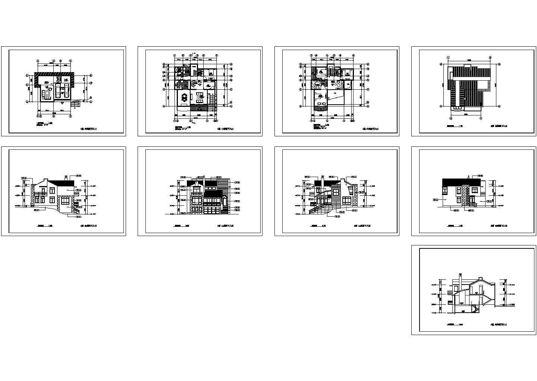 南京山地别墅A型设计方案建施cad,共九张图片1
