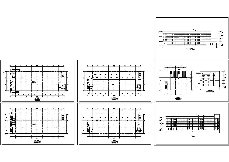 某五层工业厂房设计cad建筑方案图(标注详细)图片1