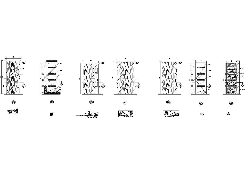 北京国际大酒店D型客房装修设计图纸图片1