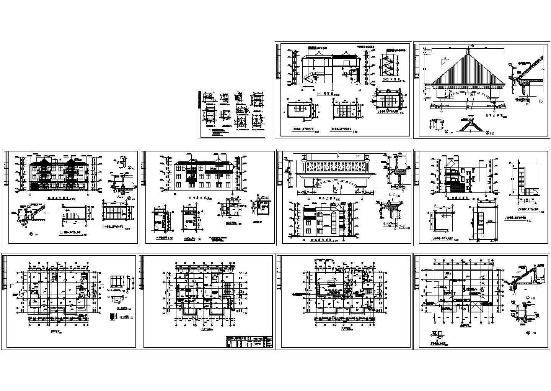 三层小别墅建筑结构图纸(共11张)图片1