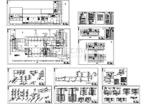 某地5层汽车客运站给排水设计施工图【含说明书】-图一