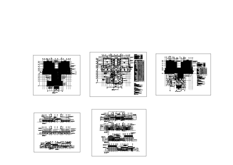 某外国厂房建筑设计cad施工图(英文标注,含说明)图片1