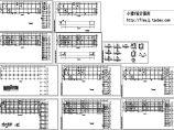 长83.1米宽49.5米4层框架L形办公综合楼结施图图片1