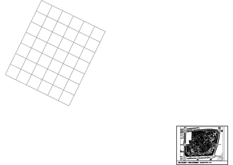 阳光小区规划设计CAD施工图图片1