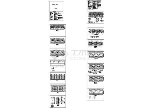 5171.22㎡住宅楼建筑结构图cad图-图一