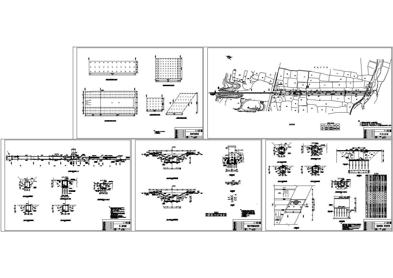 某引水工程桩基明渠及节制闸设计图图片1