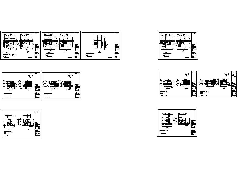 单体别墅住宅楼装修设计建施cad图纸图片1