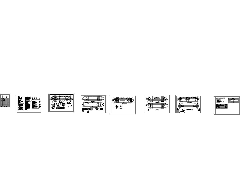 某高中大门结构设计图纸图片1
