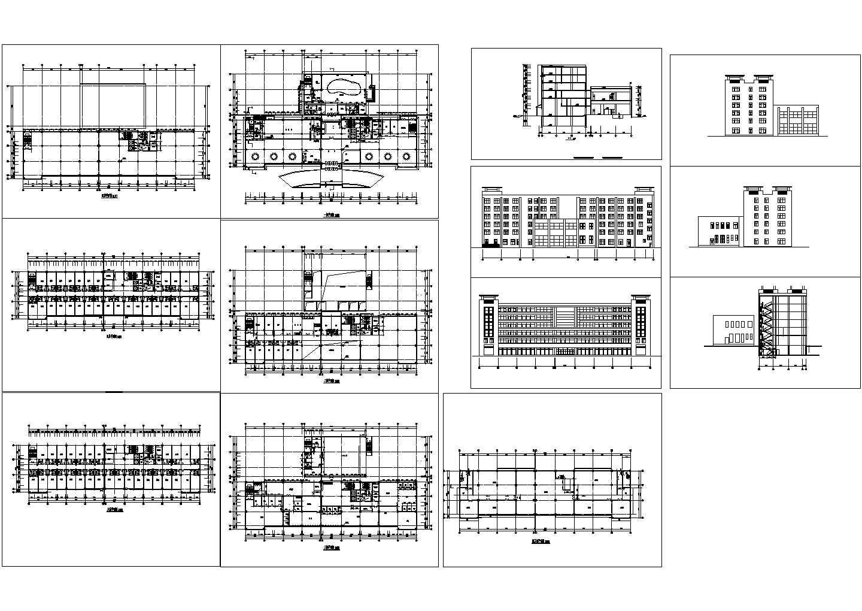 六层宾馆施工参考CAD详图图片1