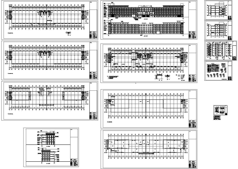 5层工业园厂房建筑设计施工图(长161.3米 宽27.5米)图片1