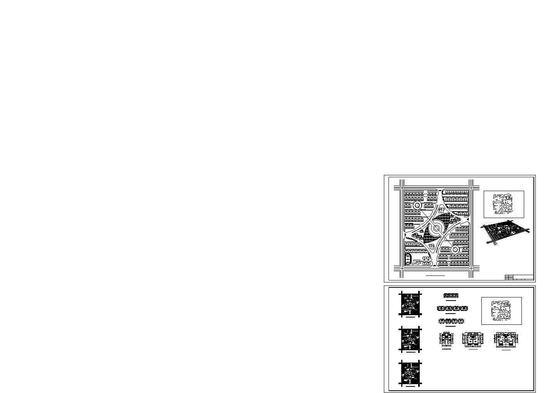长春某方形小区规划方案图图片1