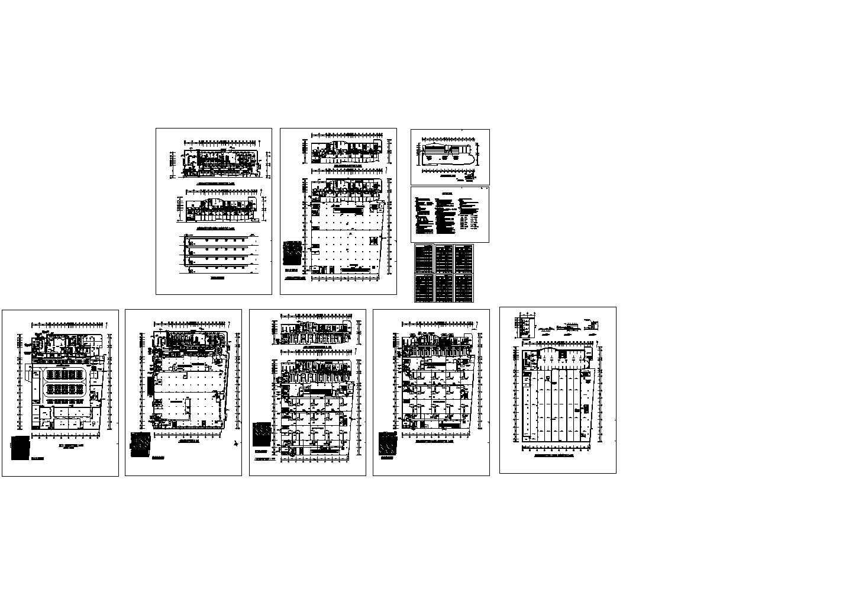 石家庄银座大厦商场整套空调设计cad施工方案图(含设计说明,含防排烟设计)图片1