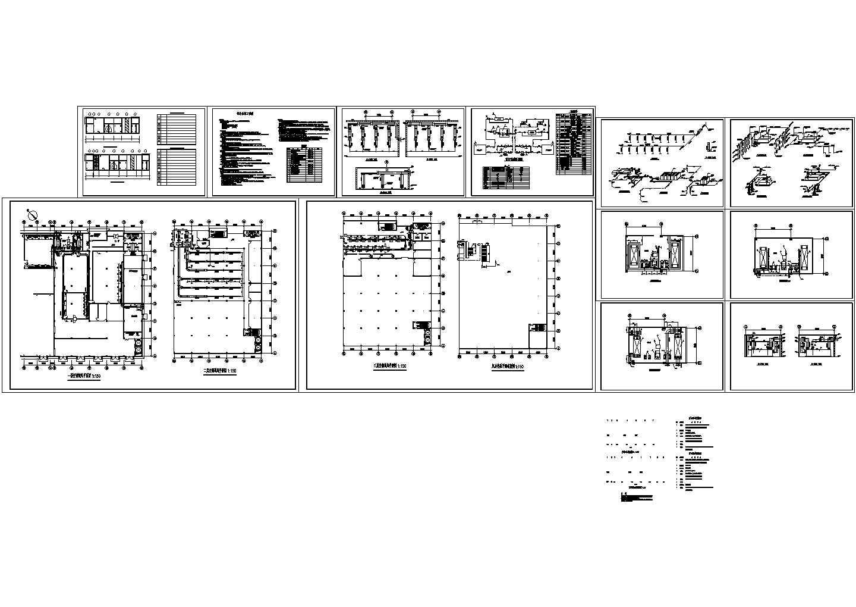 某工业厂房空调通风设计cad施工方案图(含设计说明)图片1