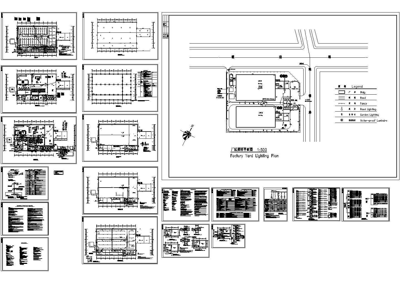 哈尔滨1层3160�O厂房工程电气施工设计图图片1