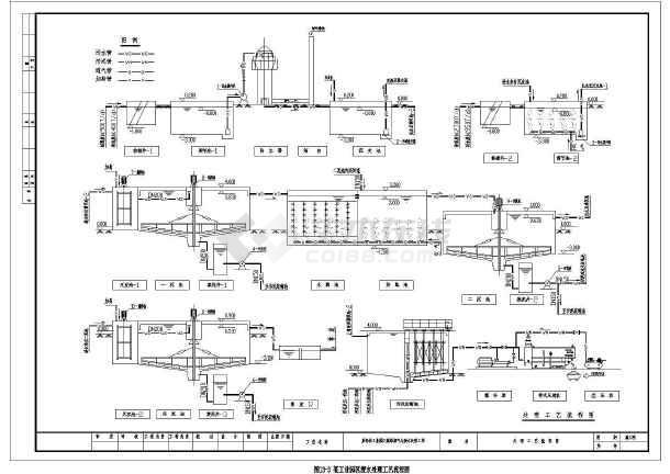 某工业园区废水处理工艺流程图-图一