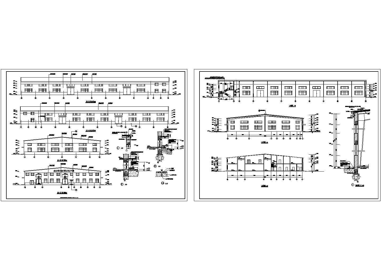 41m跨造纸生产车间建筑立面图图片1