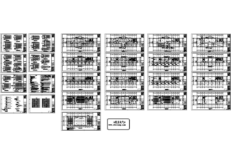 [山东]5642�O五层学校教学楼电气施工图纸(标注明细)图片1