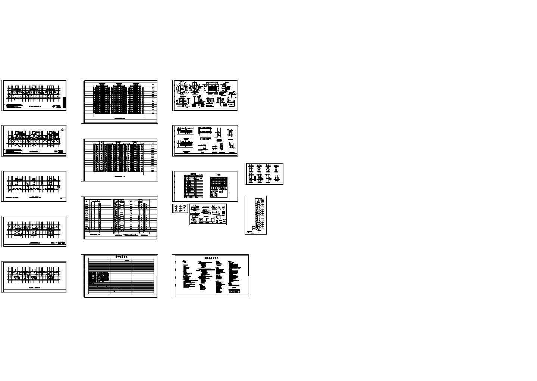 某板式小高层住宅楼建筑设计CAD施工图(值得推荐)图片1