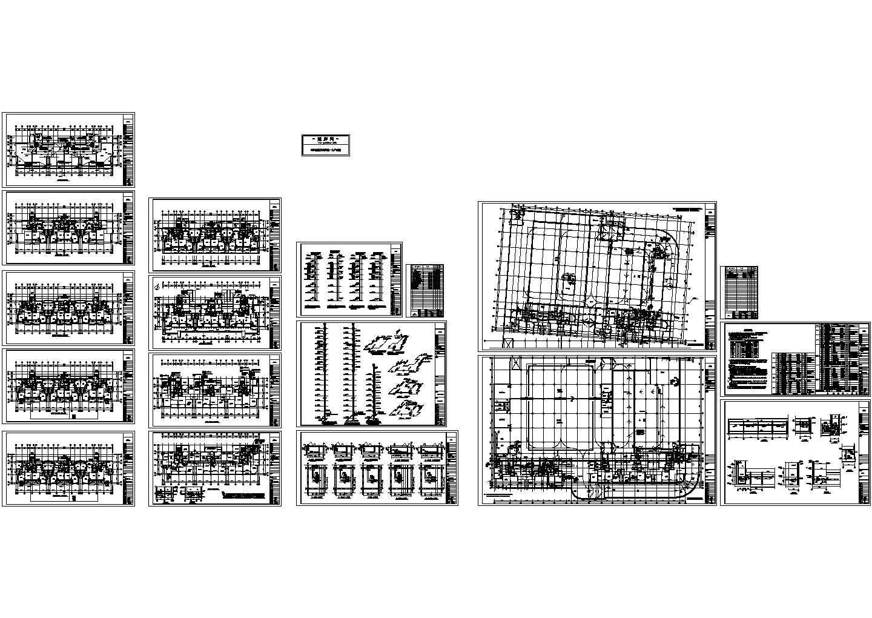 某商住大楼及地下车库采暖通风系统设计cad施工图(含设计说明)图片1