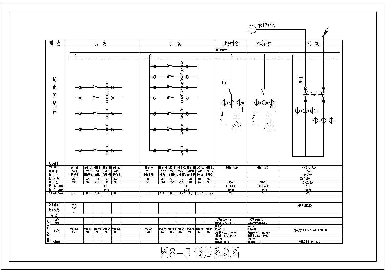 低压配电系统图标准CAD图图片1