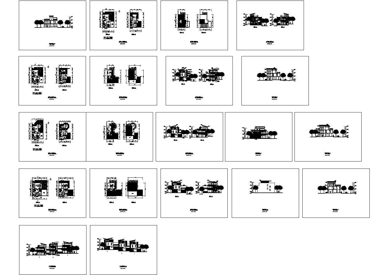 几套斜屋顶别墅建筑方案图合集(共20张)图片1