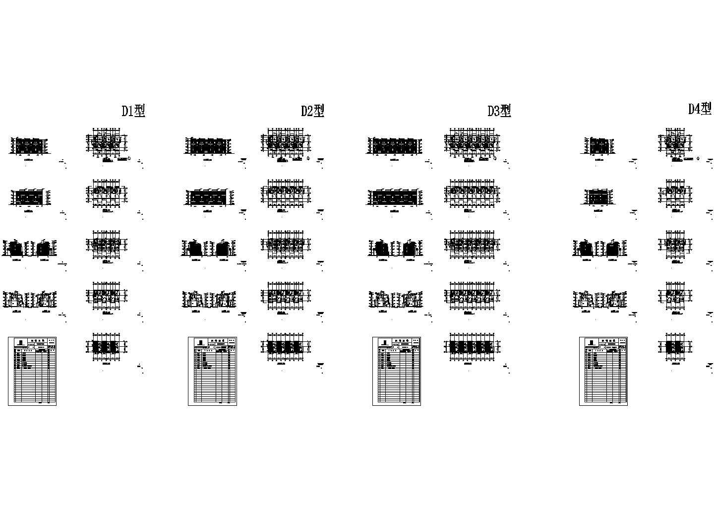 太仓某三层住宅别墅建筑设计cad图纸,共40张图片1