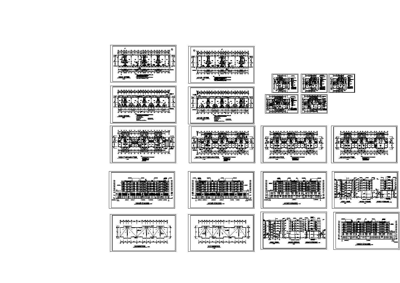 某大型住宅小区多层住宅楼平面图纸图片1