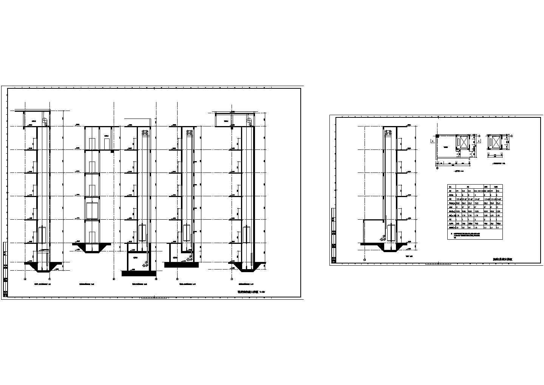 客货梯井道大样图CAD图图片1