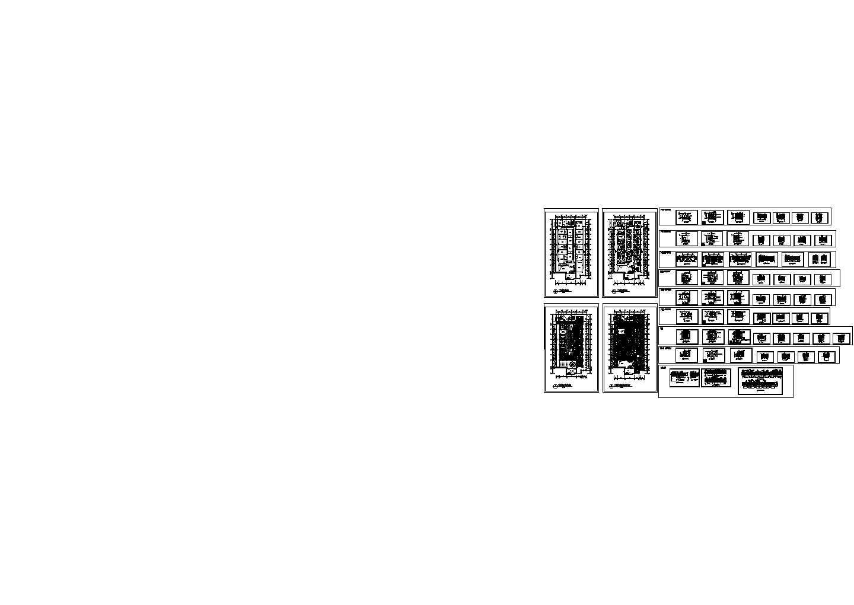 二层酒店中餐厅施工cad图,共六十三张图片1
