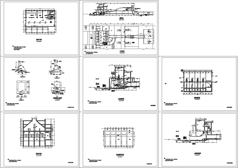 一套泵站的cad设计图纸图片1