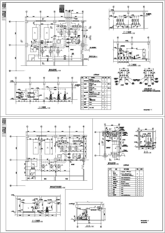 某制冷机房设计cad大样图(含新风机房设计)图片1