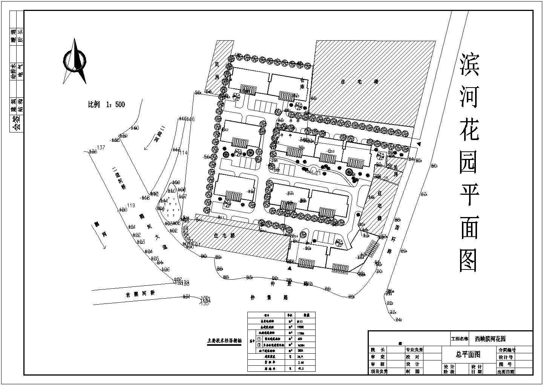 总用地8113平米多层小区总平面图图片1