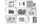 京龙花园别墅住宅楼装修设计建施cad图纸图片1