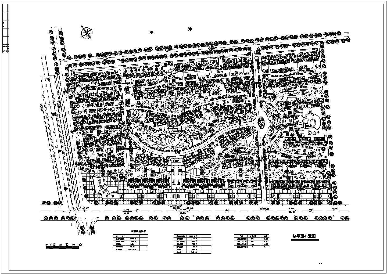 总用地82506平米总户数903户小区总平面布置图图片1