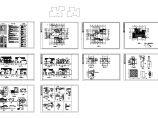 苏式江南二层别墅建筑结构水电施工设计cad图,共四张图片1