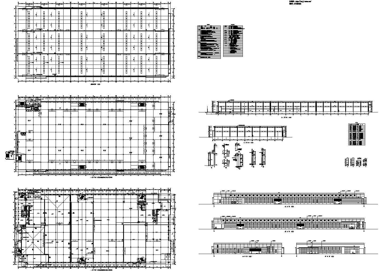 2层40560平米钢筋混凝土结构食品加工生产车间建筑施工图纸【平立剖 节点大样图 说明】图片1