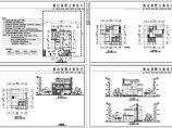 某282�O地上三层别墅建筑施工CAD图纸,标注明细图片1
