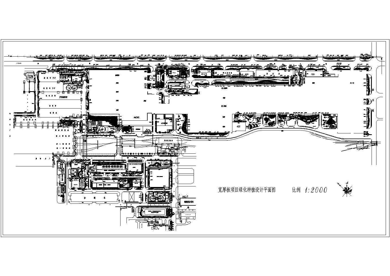 某大型工厂绿化种植设计平面图图片1