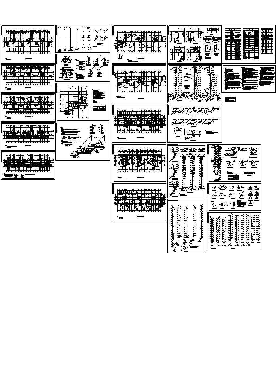 江苏某16层住宅给排水消防施工设计cad图图片1