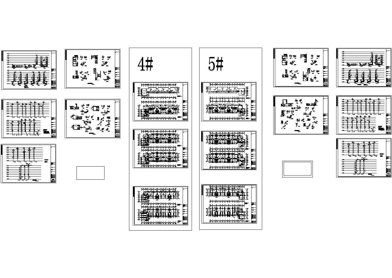 9861.74平米住宅楼给排水施工图(长51.9米 宽15.6米)图片1