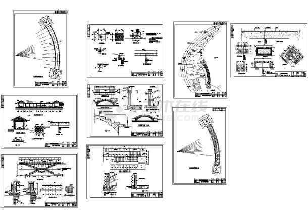 玉湖山庄园林施工设计cad图,共9张-图一