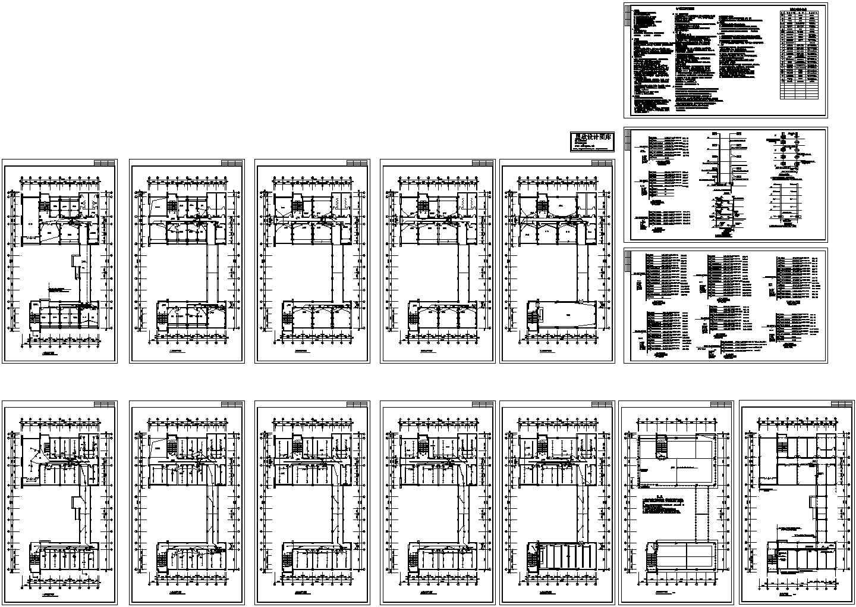 某五层办公楼强电施工图图片1