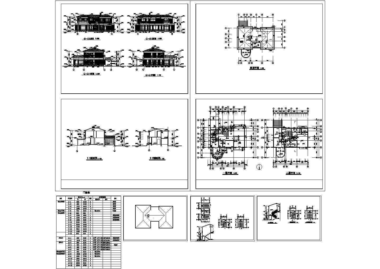 2层欧式别墅装修设计全套建施cad图纸图片1