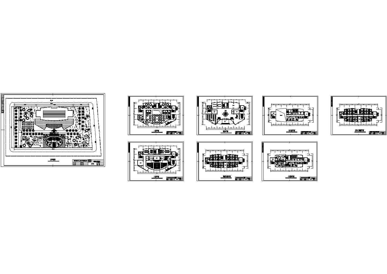 某十六层酒店建筑方案图纸(知名设计院设计)图片1