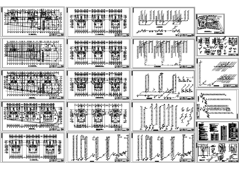 -1+15层商住楼给排水设计图(长107米 宽37.7米)图片1