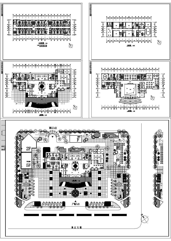 某市大酒店建筑设计方案cad图纸图片1