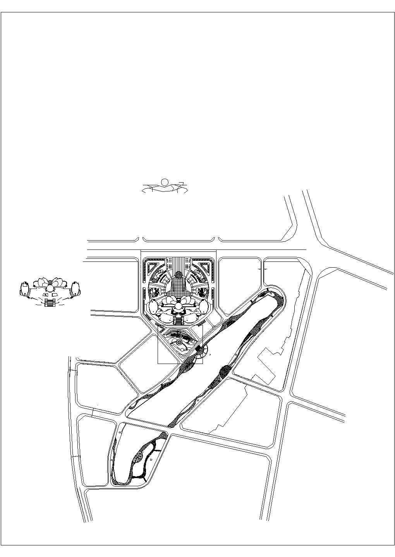 中心广场景观设计CAD图图片1